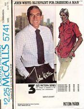 1970's VTG McCall's Men's Shirt John Weitz Pattern 5741 Size 38-42 UNCUT