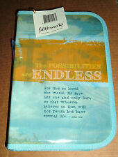 Faithworks POSSIBILITIES are ENDLESS BIBLE COVER NEW zip canvas FREE SHIPPING