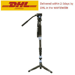 Sirui P-204SR + VA-5 Aluminum-Alloy Monopod Tripod For Camera Video Head Loading