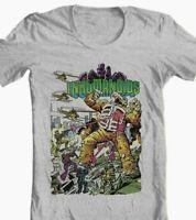 Inhumanoids T-shirt retro Saturday Cartoon 80s comic toy style graphic tee grey