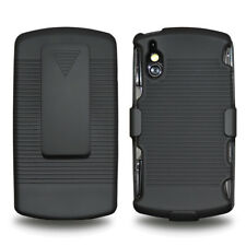 Amzer Shell Hard & Clip Stand Holster Combo Case Cover For Xperia Play - Black