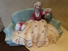 Antique  1914 Porzellanfabrik Hertwig & Co Ceramic Lady Sitting On Sofa #72