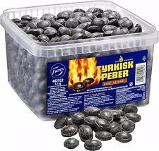 Fazer Tyrkisk Peber Original - Pepper Salty Licorice Salmiak Candy - Box 2,2 kg