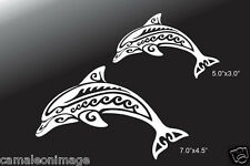 2 Dolphins Vinyl Decals (7.0x4.5)(5x3) for Truck/Car/Window/Laptop/Ipad