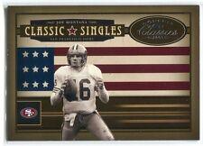 2005 Donruss Classics Classic Singles Silver 12 Joe Montana /500