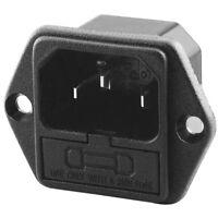 Strombuchse Stromkupplung 230V für Kaltgeräte zum Einbau Einbaubuchse Sicherung