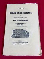 Électricité 1834 Annales de Chimie et de Physique Peltier Marianini Righini