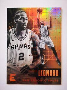 Panini Essentials 2017-18 card carte NBA San Antonio Spurs #117 Kawhi Leonard