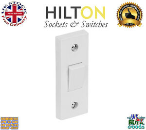 HILTON Architrave White Light Switch 1Gang 2Way 10Amp ***Best Quality***