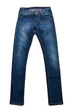 Nudie Jeans Co Mujer vaqueros TALLA W27 L32 Ajustado LONG JOHN Italia Azul