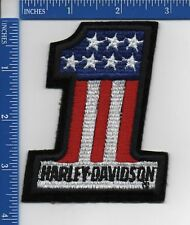 "HARLEY-DAVIDSON #1 Stars & Stripes  patch  3 5/8"" × 3"" NOS authentic"