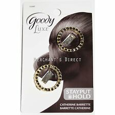 Goody Luxe Stayput Hold Catherine Barrettes, 2 Piece Set, Black