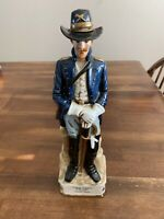Rare Arnart Grenadier Porcelain Whisky Bottle General Custer U.S. Calvary