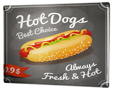 Tin Sign XXL Nostalgic Fun  Hot Dog