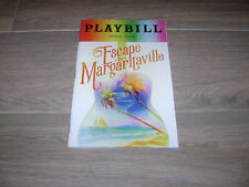 Escape to Margaritaville Broadway Playbill June 2018