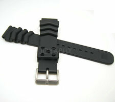 20MM Black Rubber Replacement Watch Band for SEIKO Divers Z-20