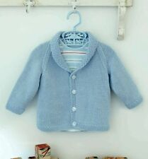 (173) DK Knitting Pattern for Classic Baby Boy's Cardigan, 6-36M