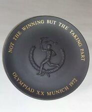 "Placa Wedgwood Negro Olimpiada Munich 1972 Placa Conmemorativa XX, 8.5"""