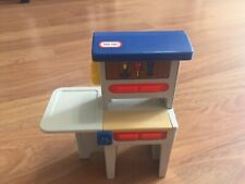 Vintage Little Tikes Blue Roof Doll House Work Bench