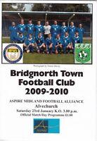 Bridgnorth Town v Alvechurch 2009/10 (23 Jan) Midland Football Alliance