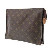 LOUIS VUITTON Poche Toilette 26 Clutch Bag Monogram M47542 Vintage Auth #GG94 O