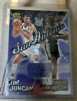 Tim Duncan 1997-98 RC Press Pass Double Threat David Robinson Rookie Spurs HOF