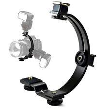 C Form Blitzschiene Blitzhalter 1/4 Zoll Gewinde für DSLR-Kamera Flash Bracket