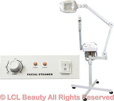 2 in 1 Facial Steamer (5x) 16 Diopter Led Magnifying Lamp Spa Salon Equipment
