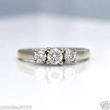 Estate .55ct Diamond Anniversary Ring 14k Gold Journey Wedding Ring - Size 6.5