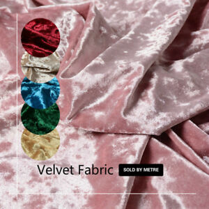 Quality Elastic Velvet Fabric for Upholstery Curtain Cushion Materials By Metre