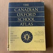 The Canadian Oxford school atlas 1957 edition by Oxford University Press Vintage