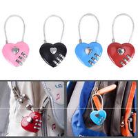1pc Heart Shaped Padlock Password Lock Luggage Password Padlock Love Lock