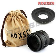 35mm f/1.6 C mount wide CCTV Lens for APS-C sensor camera + C-NEX A6000 A5100