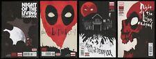Night of the Living Deadpool Comic Set 1-2-3-4 Lot Walking Dead Zombies Undead