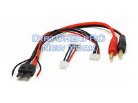 Battery Charger Charging Cable: TRAXXAS ID to 4mm Bullet Banana 3S / 2S Adapter