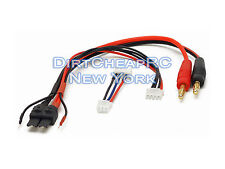 Battery Charger Charging Leads TRAXXAS ID Male to 4mm Bullet Banana 3S/2S JST-XH