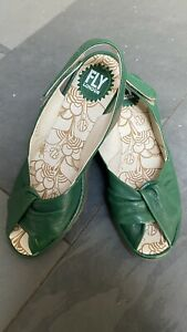 FLY LONDON LEATHER WEDGE HEEL SANDALS SIZE 6 EU 39 Perfect Condition