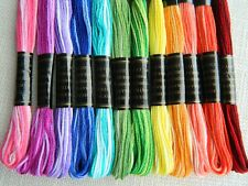 12 Variegated Stranded Cotton ~ Hand Embroidery Thread ~ Cross Stitch Floss
