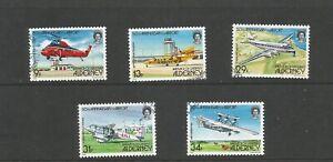 Alderney 1985 Anniversary of Alderney Airport Fine Used Set SG A18/22