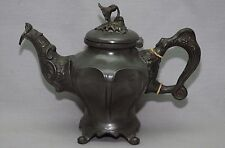 Antique Pewter Coffee Or Teapot Flower Top I Tyler Sheffield