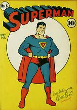 Superman #6 (DC 1940) Vintage arte cartel cómico Cubierta