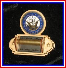 Army Navy Air Force Marine Coast Guard 21 Gun Funeral Shell Casing  Holder