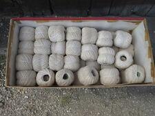 Lot anciennes bobines de fil coton à tricoter 50 grammes blanc old wire reels