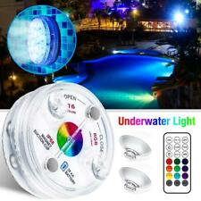 Swimming Pool Light Magnetic RGB LED Submersible Underwater Light+Remote Control