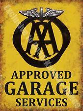 AA Garage Services Vintage 132 Mechanic Old Advertising, Medium Metal/Tin Sign