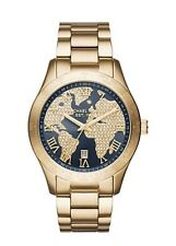 Michael Kors Women's Layton Blue Gold-Tone Stainless Steel Bracelet Watch MK6243