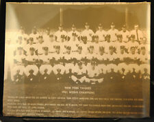 "1961 NY Yankees Team Sepia Photo 11"" x 14"" SHRINK WRAPPED MANTLE MARIS FORD"