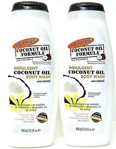 2 Palmer's 13.5oz Indulgent Coconut Oil Formula With Vitamin E & Monoi Body Wash