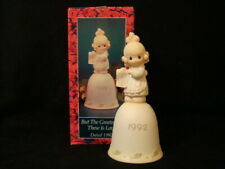 Precious Moments-Girl With Shopping List-1992 Bell-Limited Edition