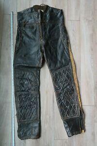 "USA Langlitz Leathers Motorcycle  racing Pants Black 30 ""X 30""  4 zippers"